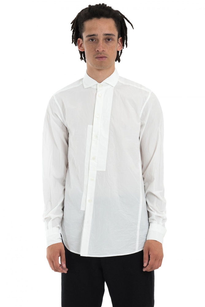 Forme D'Expression AW18 White Asymmetrical Patch Shirt