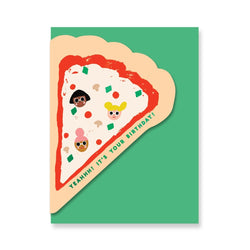 pizza birthday card