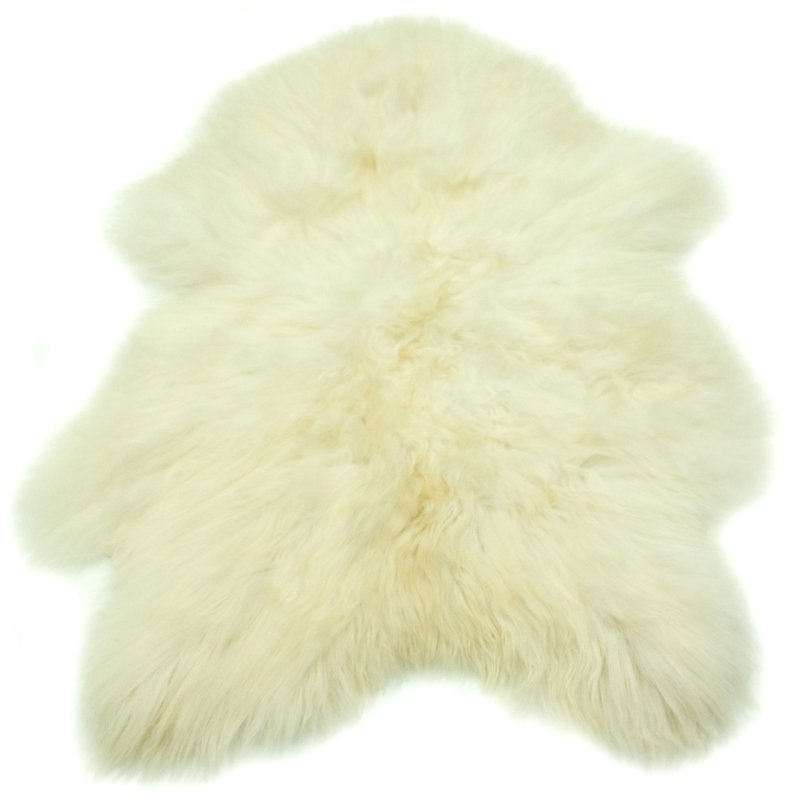 natural white icelandic sheepskin (110 cms)