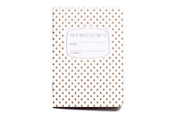 pocket gold pattern notebook