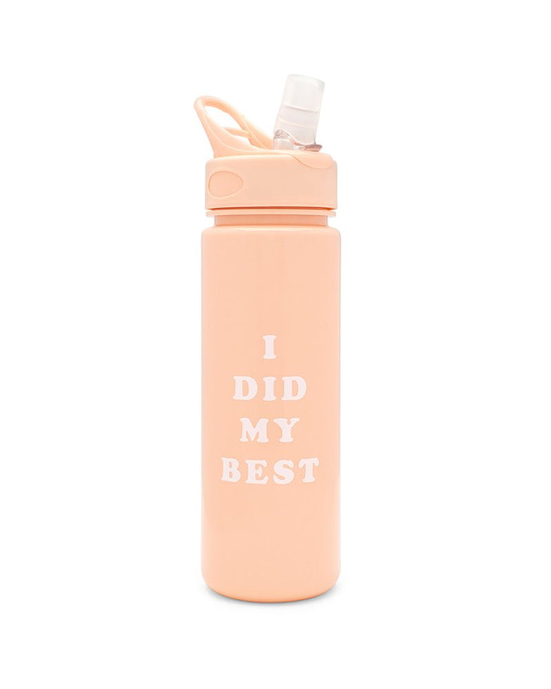 'i did my best' water bottle