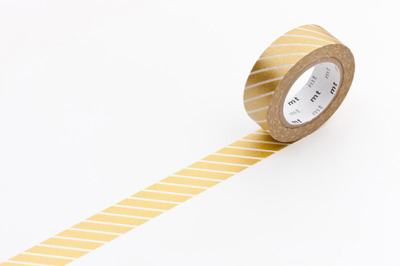 stripe gold mt washi tape