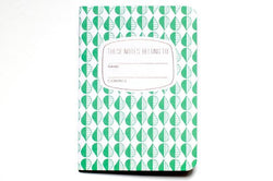 pocket green pattern notebook