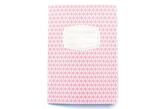 pocket pink pattern notebook
