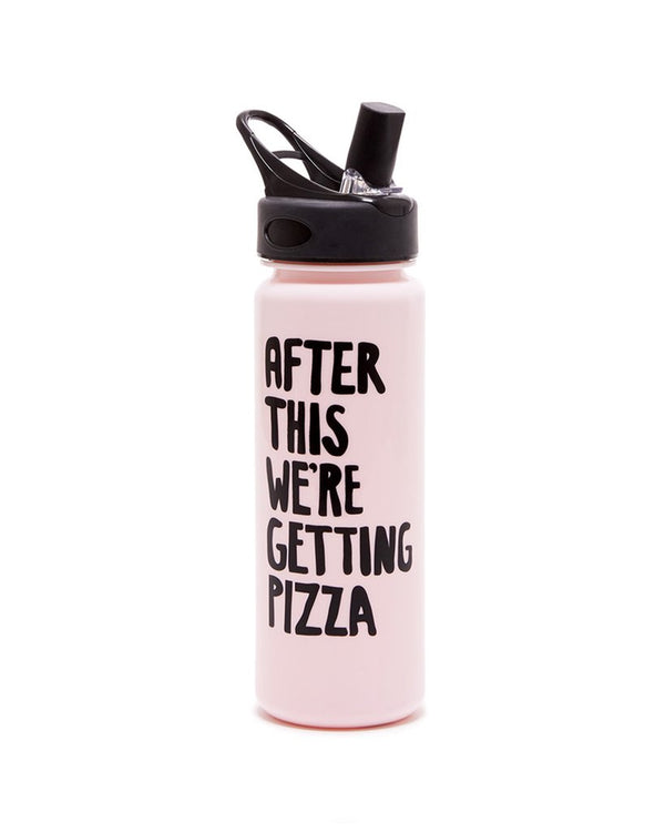 'pizza' water bottle