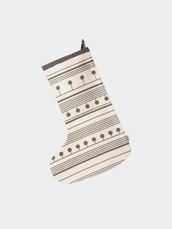 winterland christmas stocking (grey)
