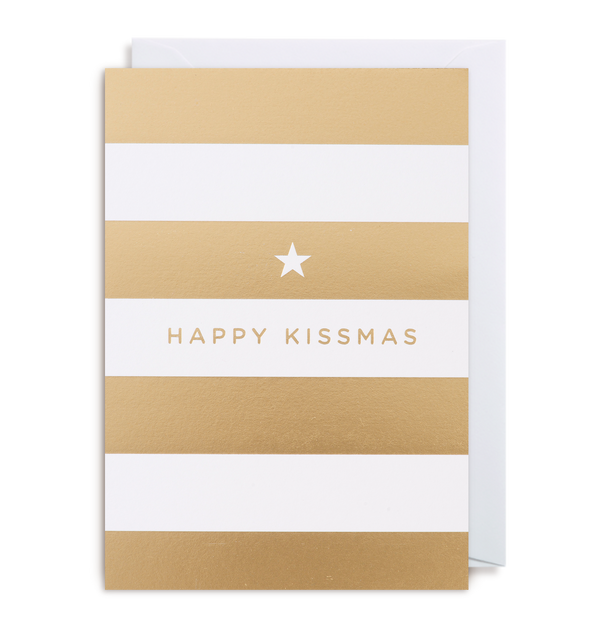 'happy kissmas' card