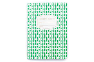 a5 green pattern notebook