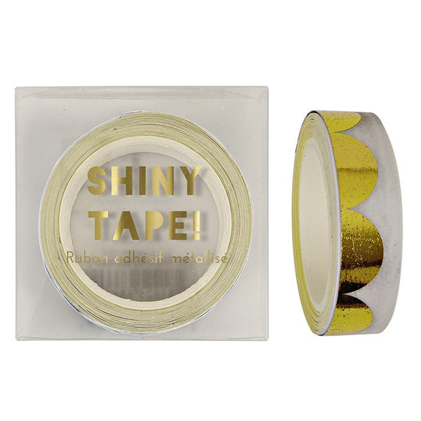 gold scallop foil tape