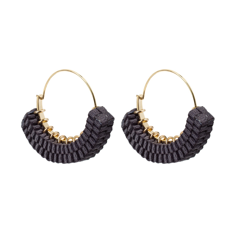 'block' hoop earrings (charcoal)