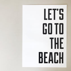 'let's go to the beach' a3 print