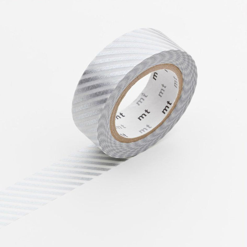 stripe silver mt washi tape