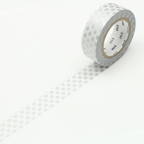 silver dot mt washi tape
