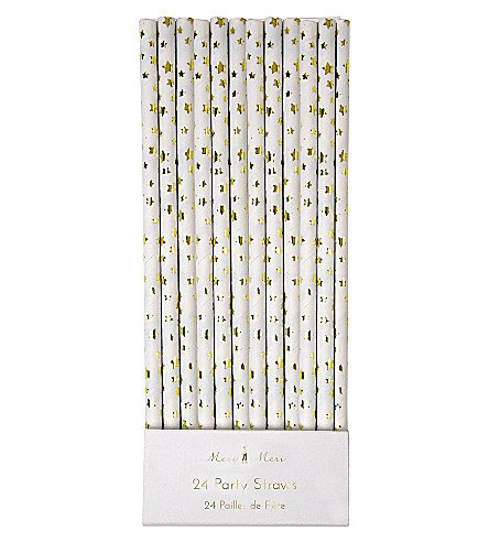 gold foil star straws (24)