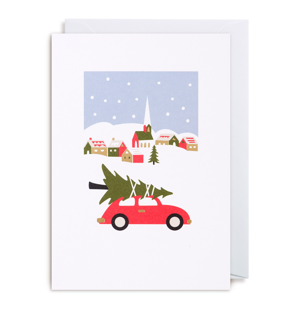 'christmas car' card