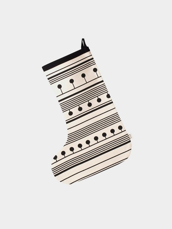 winterland christmas stocking (black)