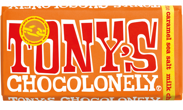 tony's chocolonely milk caramel sea salt 180g