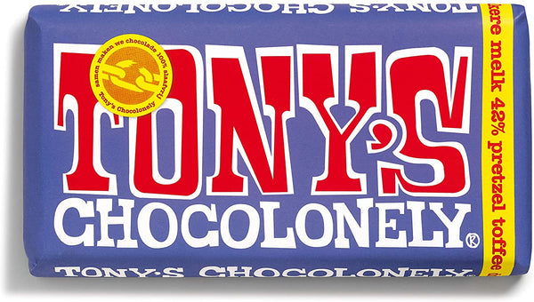 tony's chocolonely dark milk pretzel toffee 180g