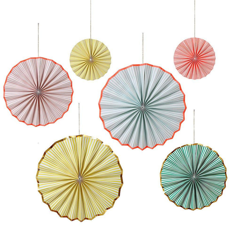 stripe pinwheel decorations