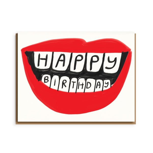 big mouth birthday card