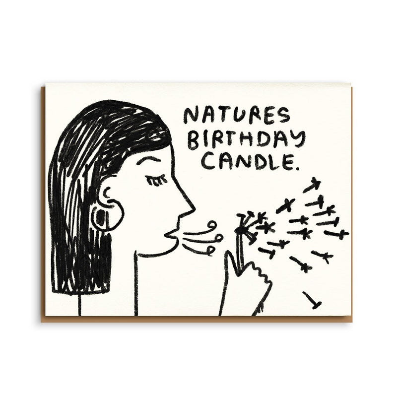 nature's birthday candle card
