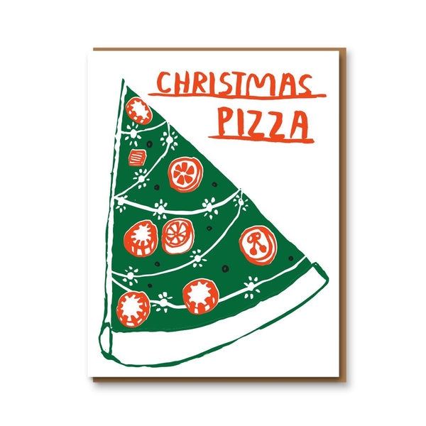 christmas pizza card