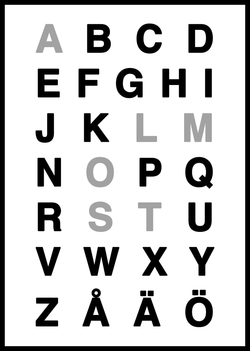 almost alphabet poster