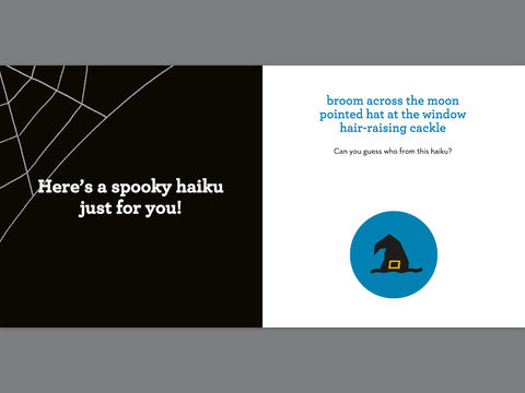 'boo! haiku' book for children