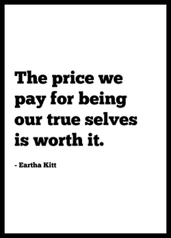 eartha kitt quote poster