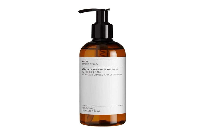 african orange aromatic hand + body wash