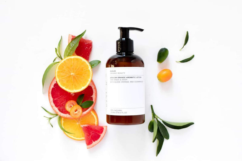 african orange aromatic hand + body lotion
