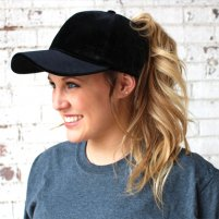 Ponytail Velvet Ball Cap – PurplePetunia 35112115591