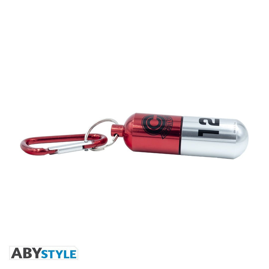 Dragon Ball Z Red Capsule Corp. Keychain