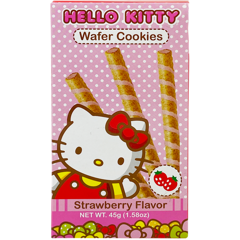 HELLO KITTY Wafer Cookies Strawberry Flavor 45g