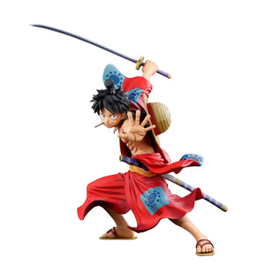 One Piece - Luffy Wano Ver. Super Master Stars Piece Manga Dimensions Figure