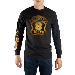 Fire Force Helment Badge Long Sleeve T-Shirt