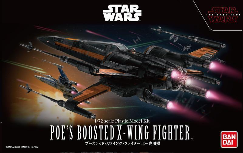 Poe's Boosted X-Wing 1/72nd Scale Plastic Model Kit - Star Wars: The Last Jedi