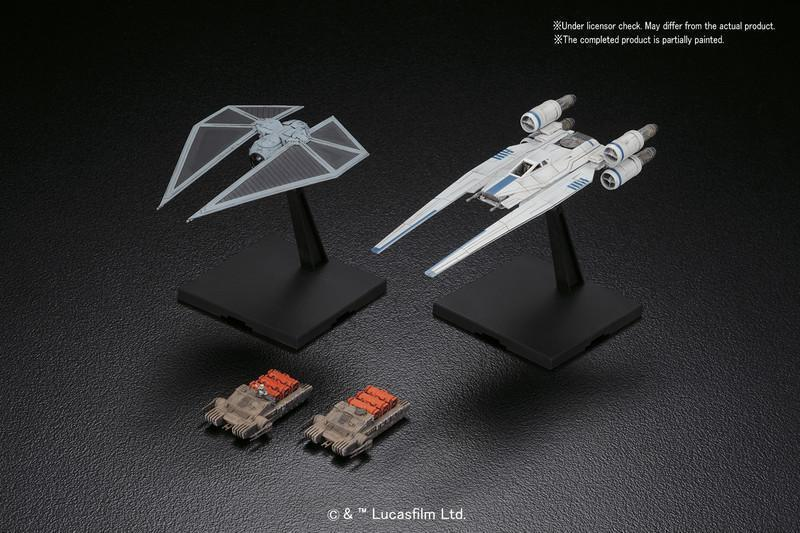 U-Wing Fighter & Tie Striker 1/144th Scale Plastic Model Kit - Rogue One: A  Star Wars Story