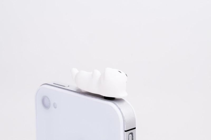 Nekomura Puppy Earphone Jack Plug (White Lab)