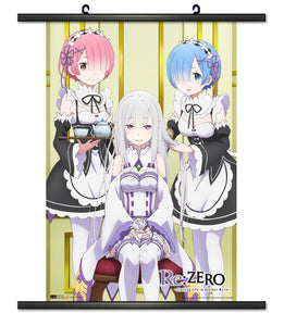 Re: Zero Rem, Ram, and Emilia Wall Scroll