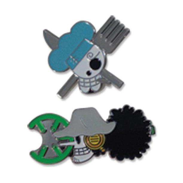 One Piece Sanji & Usopp Enamel Pin Set