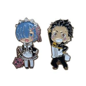 Re:Zero Subaru & Rem Pins