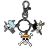 One Piece - Luffy, Sanji, & Zoro Jolly Roger Metal Keychain