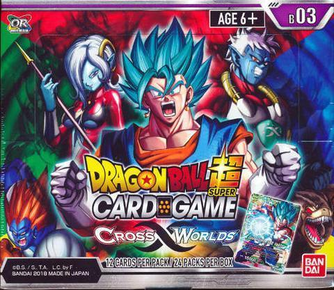 Dragon Ball Super: The Card Game Booster Pack Box - Cross Worlds