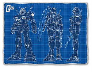 Wing Gundam Throw Blanket