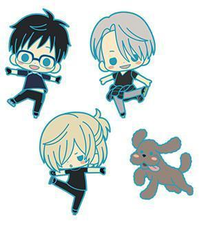 Yuri!!! On ICE Rubber Charm Collection Set of 4 [Crunchyroll Exclusive]