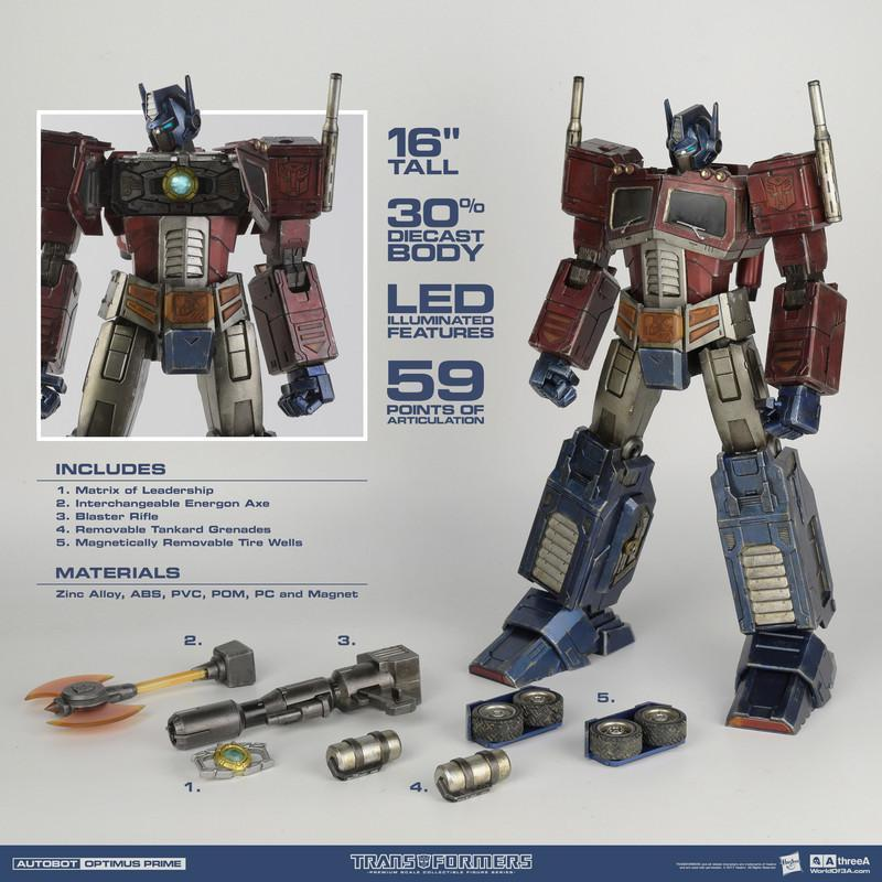 Optimus Prime Classic Edition Preimum 1/6th Scale Figure - Transformers Generation One