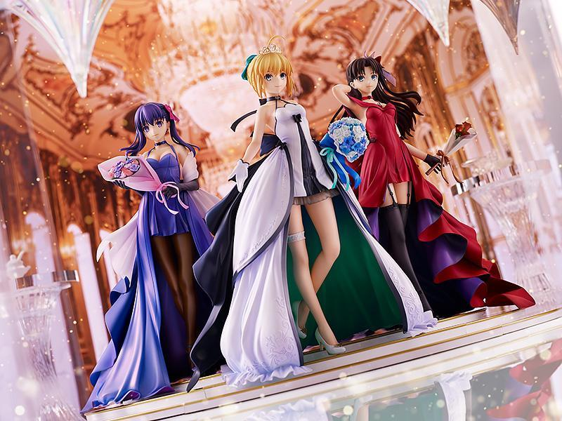 Fate/stay night - Saber, Rin, & Sakura ~15th Celebration Dress Ver.~ 1/7 Scale Figures