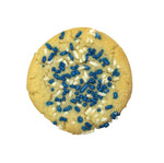 Blue and White Sprinkle Cookie
