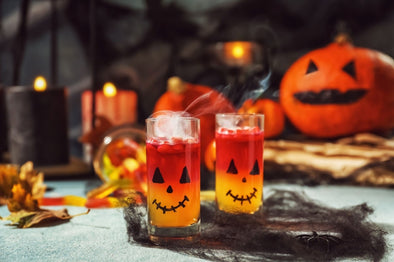 Halloween Themed Tea Mocktails & Cocktails